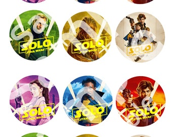 Solo a Star Wars Story prinable Cupcake toppers