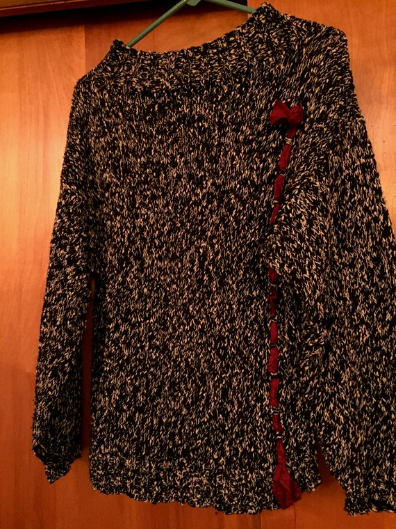 Hand-knit Amy Brill sweater