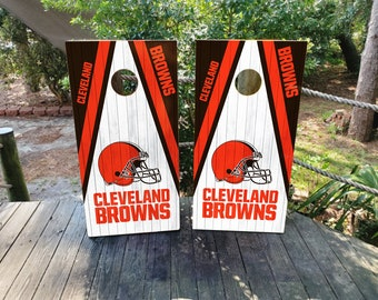 Cleveland Browns Decals corn hole set of 2 decals Free shipping Made in USA #