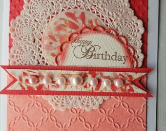 Gift, Homemade Card, Handmade Card, Birthday Card, Doiley Card, All Occasion ,Greeting Card, Cards With Envelopes