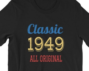 Classic Retro 1949 Birthday Shirt Tee Funny 70th Gift Ideas For 70 Year Old Birthdays Men