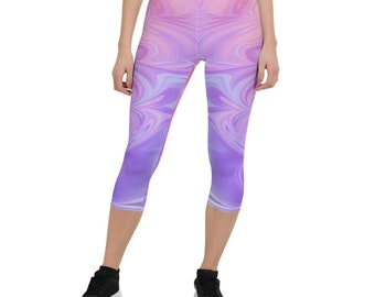 Great for Comfortable Everyday Wear Fitness Workout or Yoga Pink Purple Gold Diamond Geometric Pattern Plus Size Leggings for Women