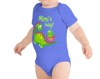 97f77de81 Mimi 's Boy Cute Dinosaur Baby Onesie ® Bodysuit for Mimi Grandmother  Grandma Grandson Gift - Can Be Personalized with Custom Name