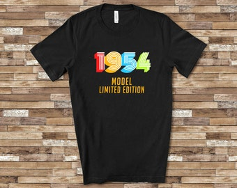 1954 Model Funny 65th Birthday Shirt For Men Or Women Sixty Fifth Gift Idea 65 Year Old Birthdays Christmas Fathers Day Mothers
