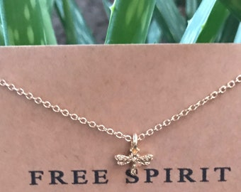 Free Spirit Dragonfly necklace