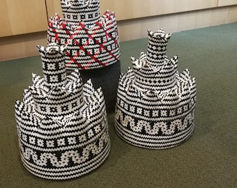 Funky Tribal Hat of Salawak (hand-crafted product)
