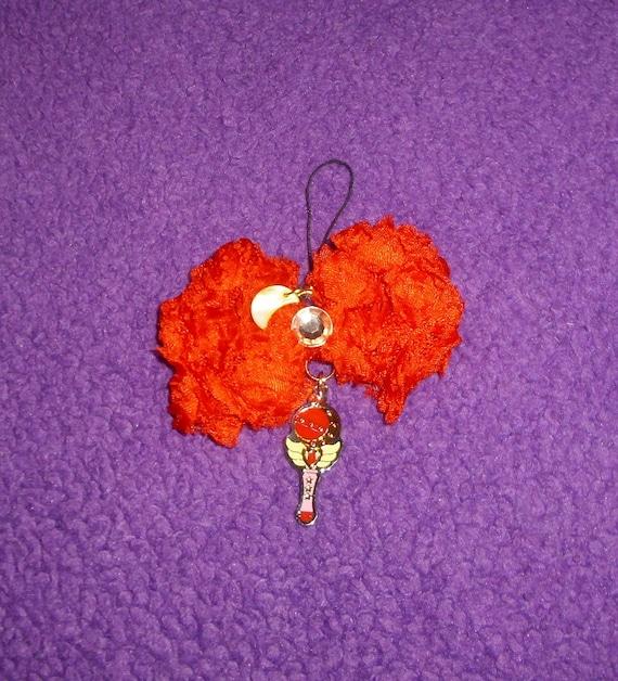 1 x charme de Sailor Moon sac sac bijoux fantaisie Collier pendentif lapin Usagi Tsukino Cutie lune Rod charme