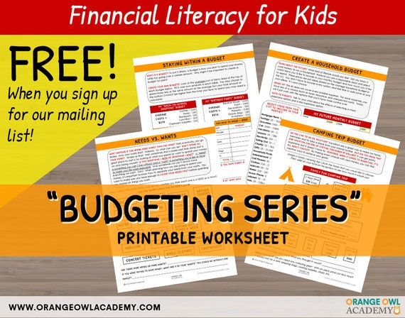 Money Worksheets For Kids Budgeting Series 4 Etsy