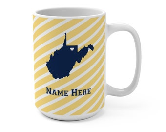 Home State West Virginia West Virginia Tumbler West Virginia Coffee Tumbler West Virginia Travel Mug West Virginia West Virginia Gifts