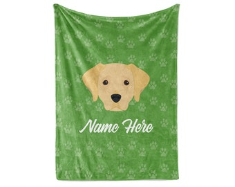 New Soft Labrador Retriever Fleece Throw Gift Blanket Puppy Dog Yellow Lab Lover