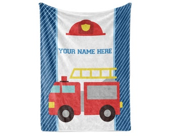 Soft Decorative Fabric Bedding All-Round Elastic Pocket Lunarable Fire Truck Fitted Sheet Red Cream Full Size Little Boys and Girls in Uniforms Fire Fighters Theme Career Profession Pattern