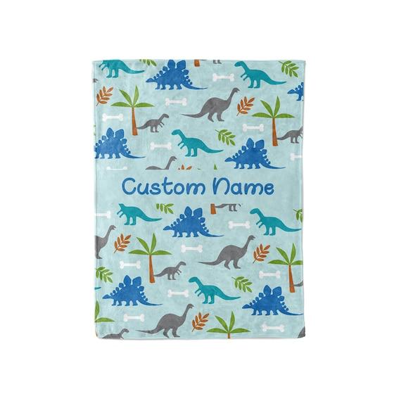 Personalized Dino Plush Blanket