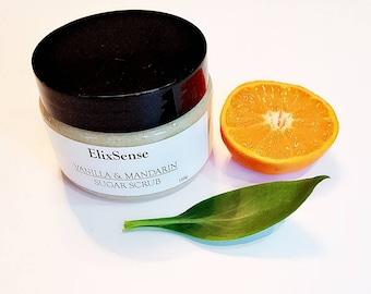 Vanilla & Mandarin Sugar scrub/body scrub/Skincare /Homemade/Natural/150g