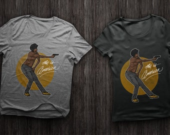 This is America Childish Gambino T-Shirt Available in Mens and Women's Sizes S-4XL.