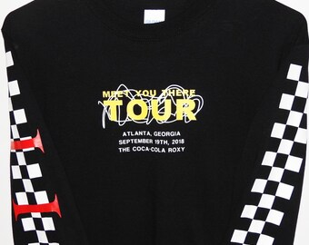 Inspired by pop culture for teens and young by cap22clothing checkered long sleeve meet you there customized tour shirt 5sos 5 seconds of summer m4hsunfo