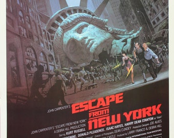 Escape From New York Poster.Escape From New York Etsy