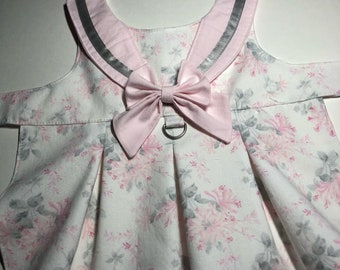 Pink Floral Dog Dress