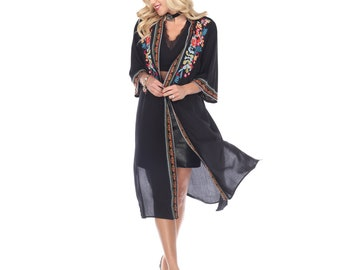 kimono Robe beach cover-up resort wear bath gown dressing Kimono bride/'s Maid Dressing Gown Relax Cover Up Sun Summer Coat Gift for HerUp