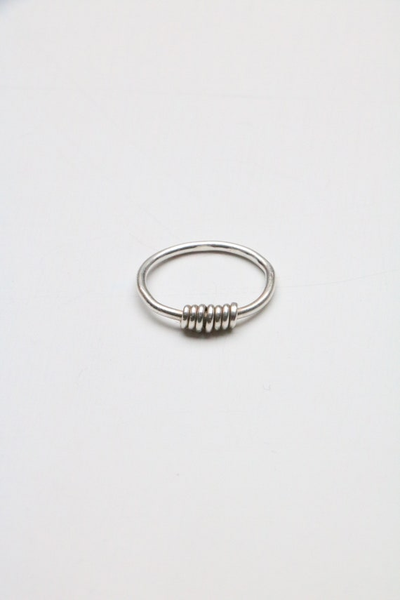 Recycled Stacking ring minimal jewellery ecofriendly jewellery stacking ring dainty silver ring Sunrise Ring Sustainable Silverring