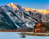 Twin Lakes Barn, Colorado, Landscape Photo Print
