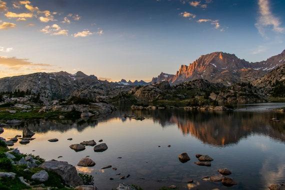 Island Lake Pinedale Wyoming Landscape Photo Print Etsy