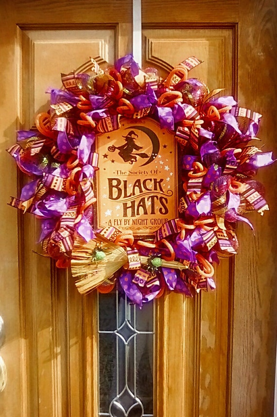 Purple Witch Wreath Purple Witch Halloween Witch Halloween  ba0109484b42