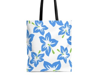 Bags and Purses - Beach Tote,  Work Tote, Hibiscus Print, Tropical  - Strong, Sturdy Durable Tote Bag