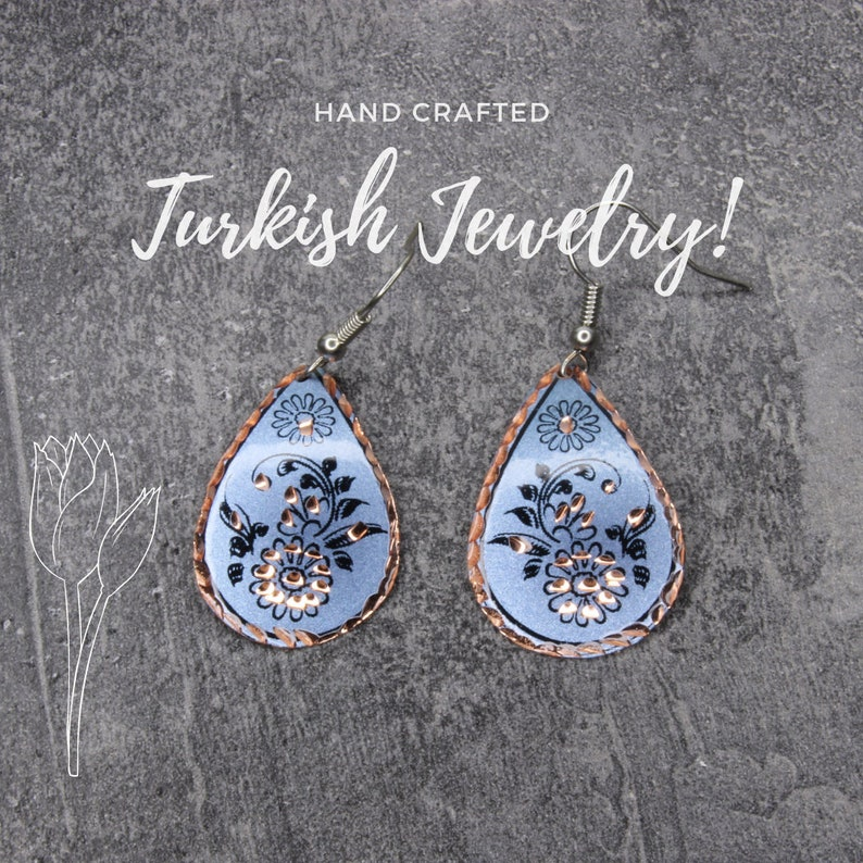 Boho Colorful Jewelry Gift for Her Womens Gypsy Accessories Oriental Unique Earrings Statement Flower Earrings