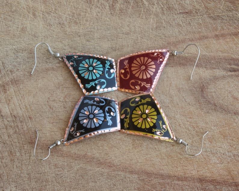 Colorful Womens Jewelry Geometric Dangle Drop Earrings Colorful Art Earrings Boho Chic Earrings Geometric Boho Jewelry
