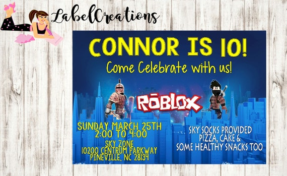 Roblox Birthday Invitation Personalized Digital Download Etsy - 21 best roblox birthday party images party birthday parties