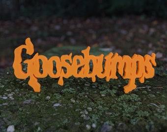 Goosebumps Movie Shelf Display Scary Kids Film Logo Sign, Glow - Custom Color, Halloween Gift