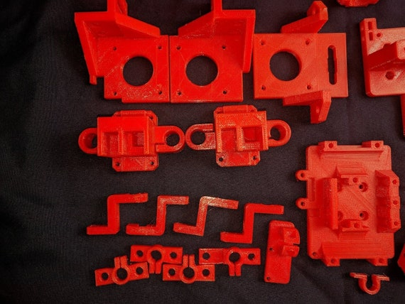 HyperCube 300 DIY 3D Printer Printed Parts Kit Zyltech Hardware Kit Compatible PETG Printed to Spec Red Blue Clear USA