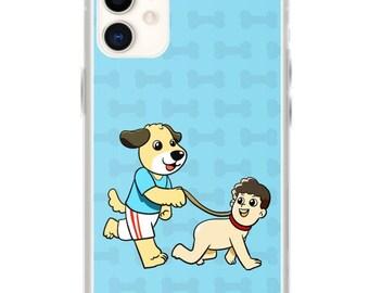 Dog Walking A Human iPhone Case