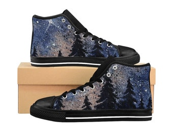 Pine Tree And Galaxy HighTop Sneakers 6ba59064d