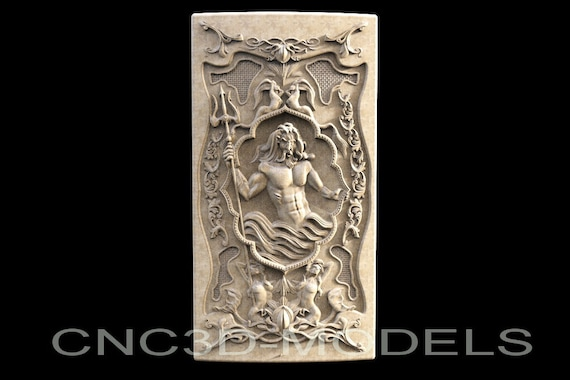 3D Model STL for CNC Router Carving Artcam Aspire USA Flag Girl America D280