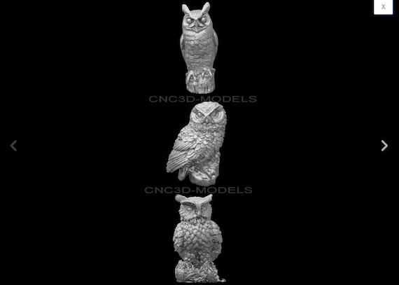 79 PCS STL 3D Models # BIRDS HUGE SET #  for CNC 3D Printer Engraver Carving