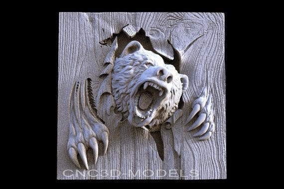 3D Model STL for CNC Router Engraver Carving Artcam Aspire Eagle Hunt n314