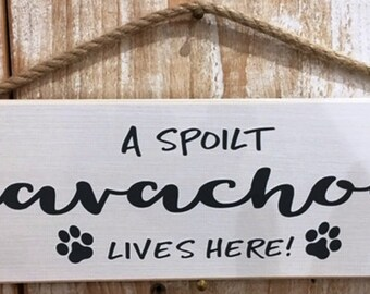 ITALIAN GREYHOUND  A Spoiled Rotten XXX Lives Here Wood SIGN//PLAQUE 5 X 10