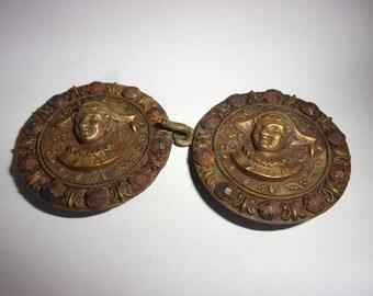 boucles de ceinture ancienne en laiton ,boucles anciennes de collection e8463877c18