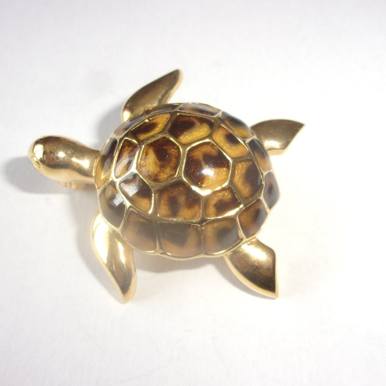 Vintage turtle brooch,pretty turtle collection brooch