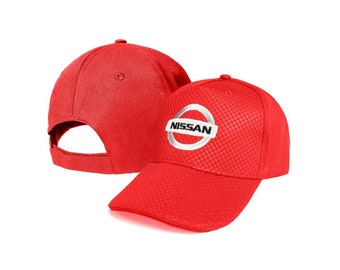 50b260e7 CARBON Nissan Red Baseball Cap Embroidered Auto Logo Adjustable Hat Basecap  Unisex Mens Womens GTR GT Micra Sport