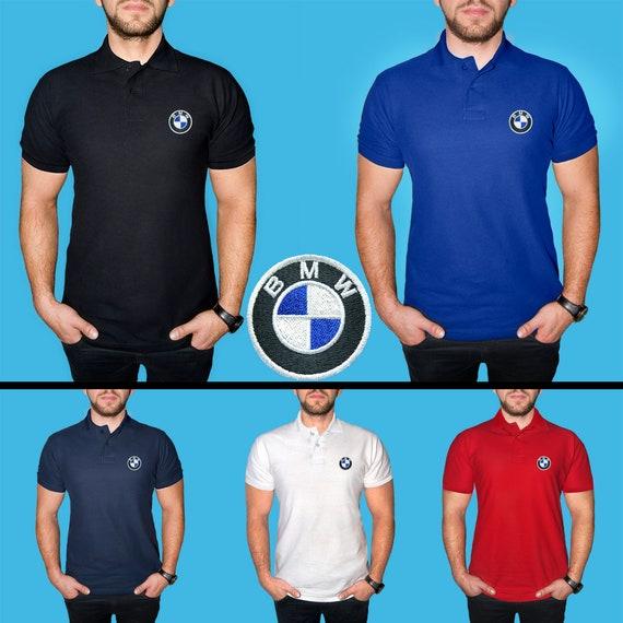 e3754558258d Mens BMW Polo Shirt COTTON EMBROIDERED Auto Logo T Shirt Tee   Etsy