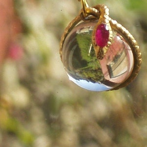 rock crystal ruby snake pendant necklace pools of light snake wrapped
