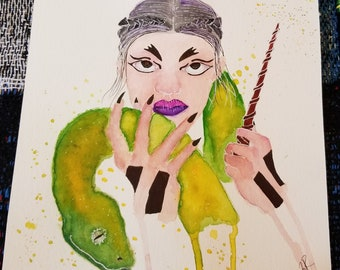 Snake Witch, original art