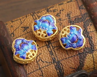 Accessories, Lotus Beads, Cloisonné Enamel, Enamel Beads, Bracelet Beads, Necklace Beads, Jewelry Supplies, Beads Supplies