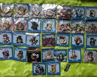 Fursona pins character enamel pins collectors rare SHIPPING INCLUDED