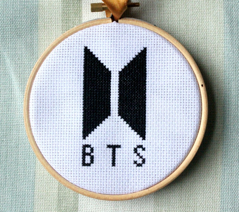 BTS Logo Cross Stitch 4 Inch Cross Stitch PDF Pattern Digital Download
