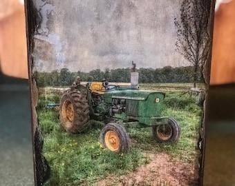 John Deere Tractor Wooden Art