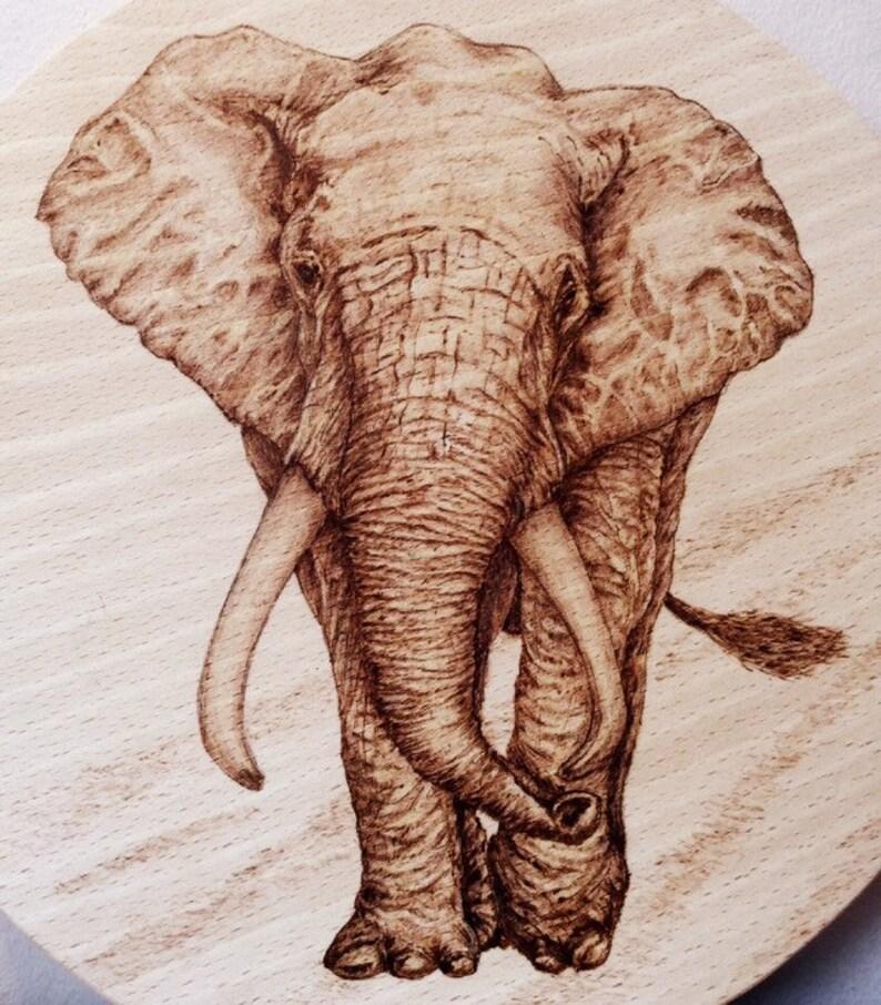 Hand Pyrography Art Bracelet Elephant Other Art