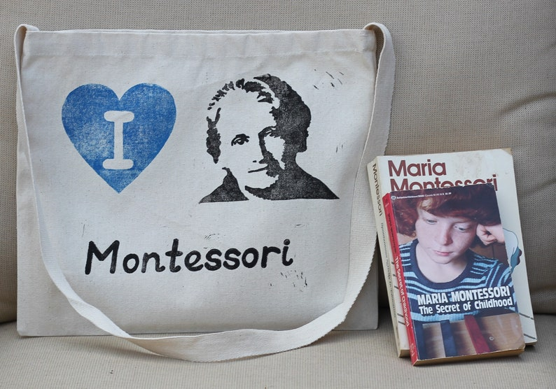 I heart Dr. Maria Montessori tote bag image 0